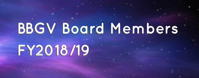 BBGV Board Members 2018/19
