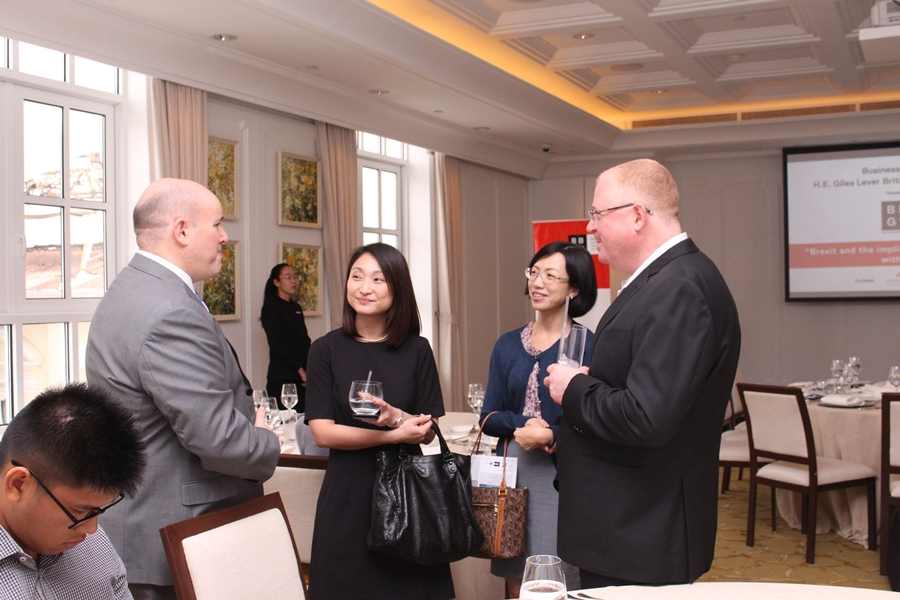BUSINESS LUNCHEON WITH H E GILES LEVER BRITISH AMBASSADOR TO VIETNAM