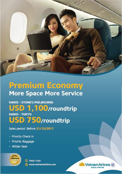 Vietnam Airlines: Premium Economy – More space, more service
