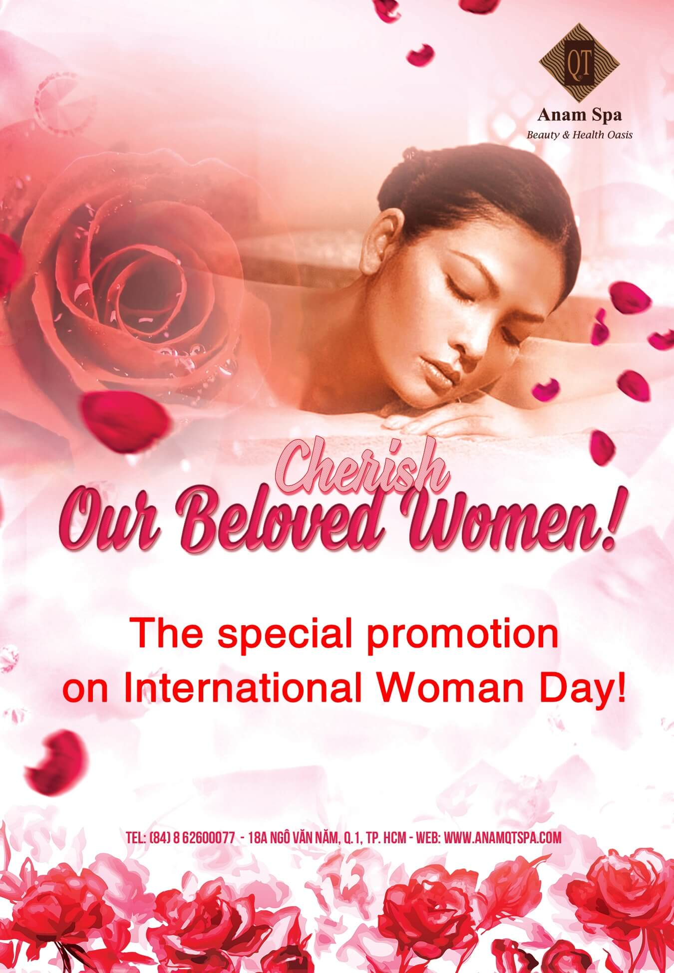 Special promotion programe to celebrate  International Woman Day from Anam Qt Spa!