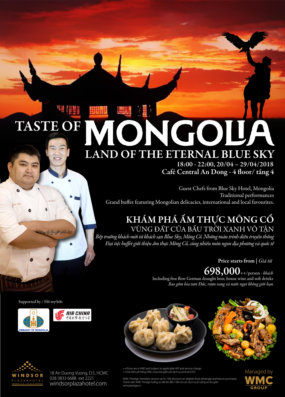 TASTE OF MONGOLIA – Land of Eternal Blue Sky at Windsor Plaza Hotel