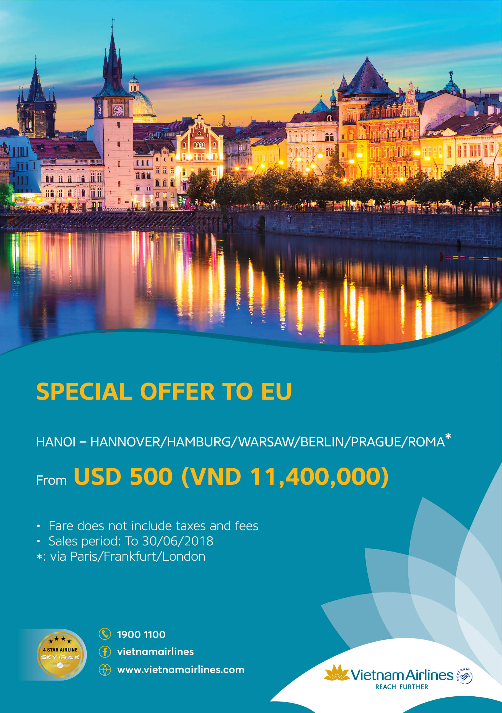 VIETNAM AIRLINES – SPECIAL OFFER TO EU