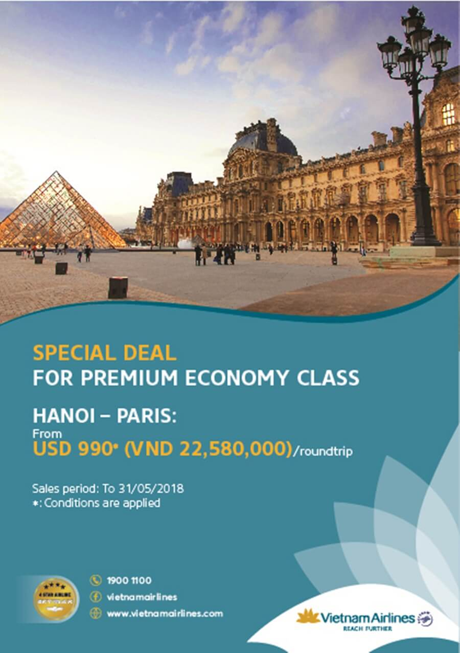 Vietnam Airlines: Special deal for Premium Economy Class