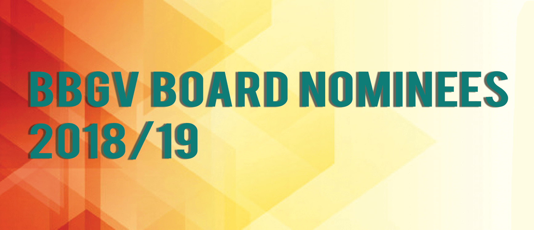 BBGV Board Nominees 2018/19