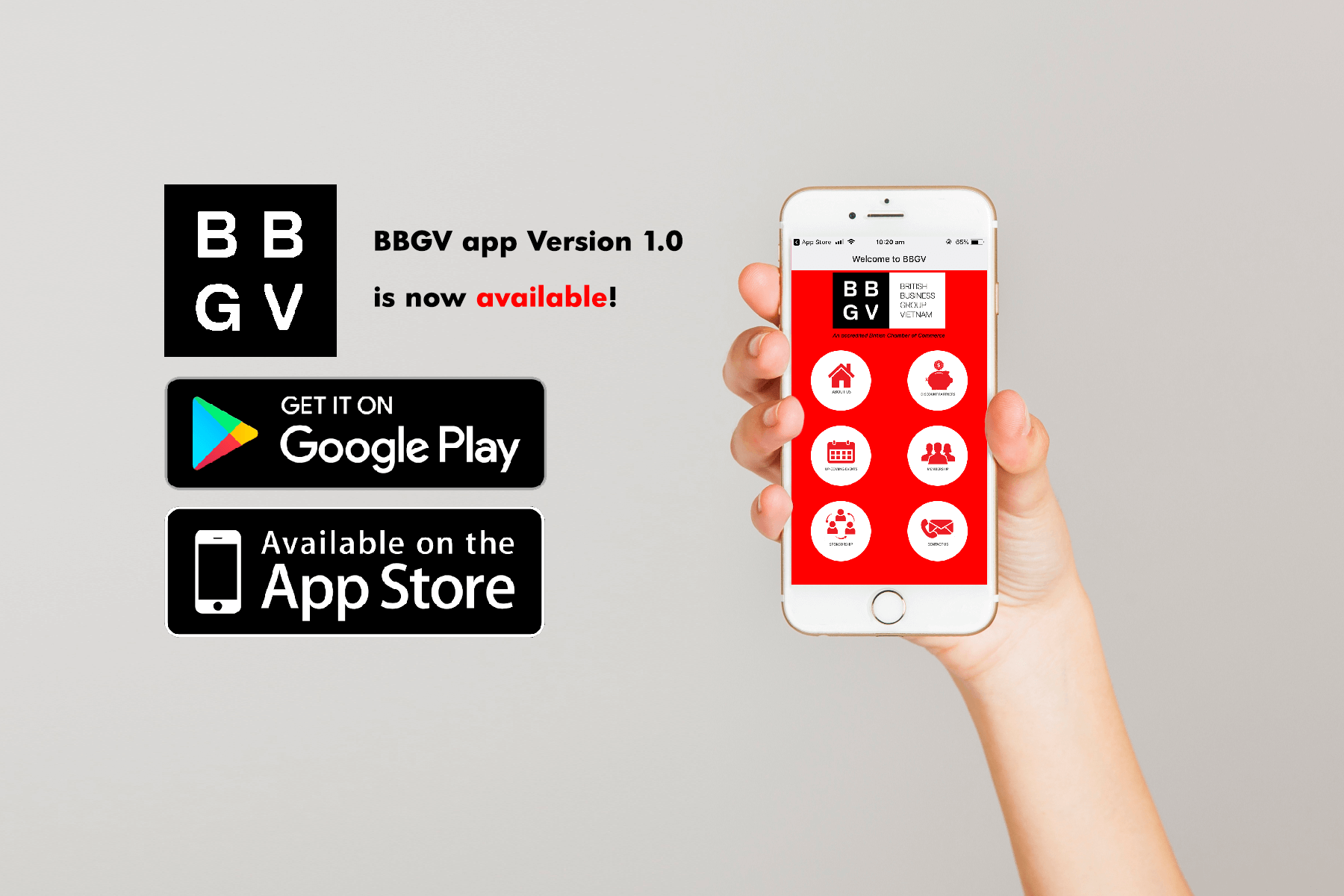 BBGV App Version 1.0 is now Available!