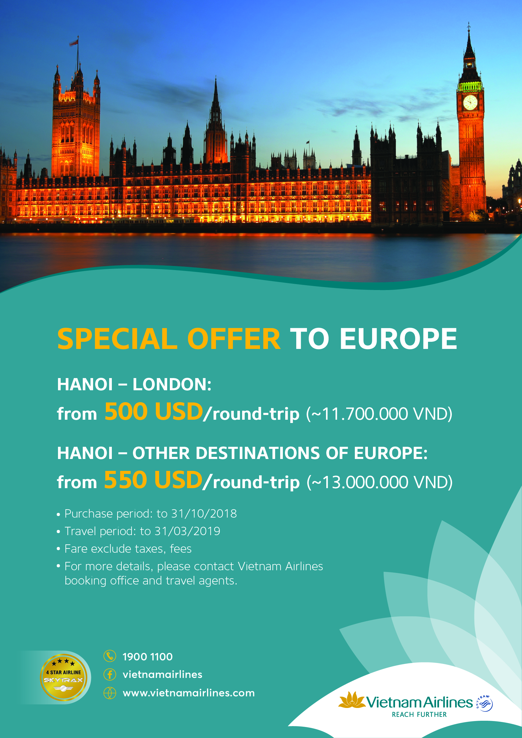 Vietnam Airlines: Special Offer to Europe