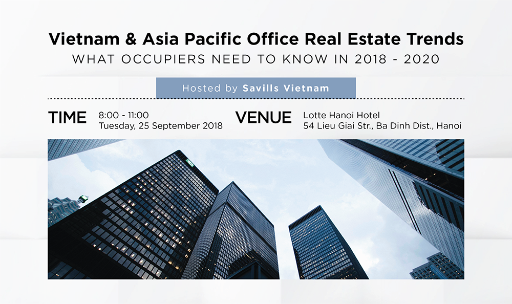 Savills Vietnam to host exclusive event for office occupiers in Hanoi