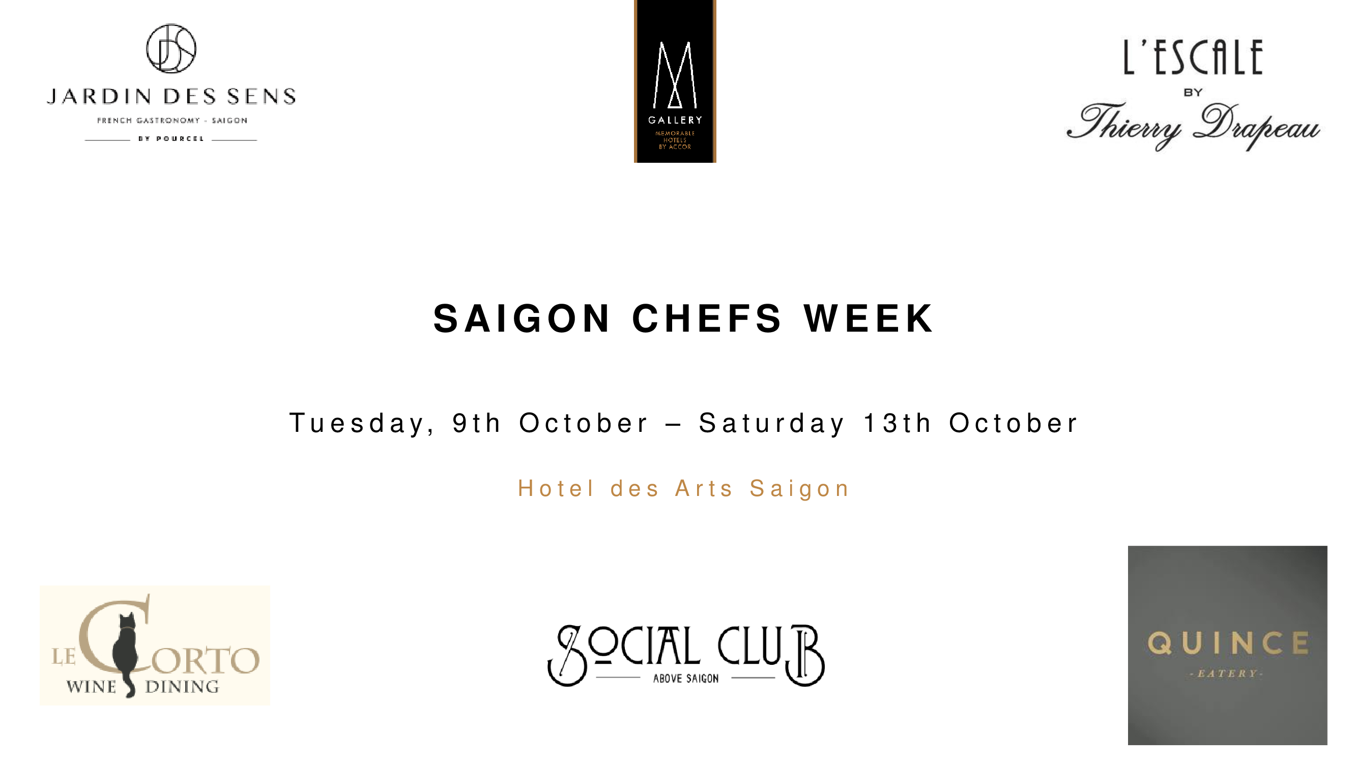 Saigon Chefs Week Event Sep 09th to Sep 13th